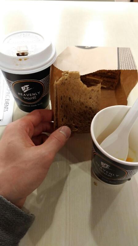 チャンギ空港の喫茶店
