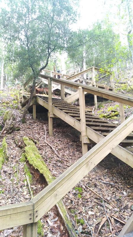 難所の階段
