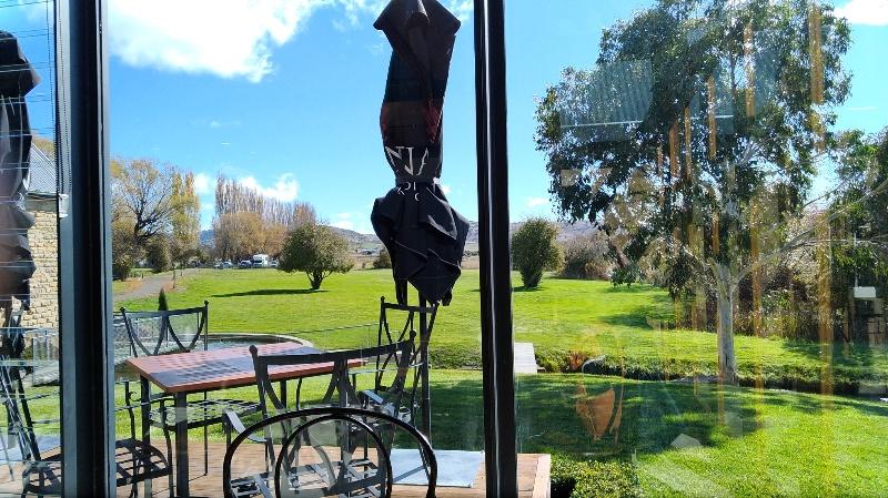 蒸留所カフェからの景色
