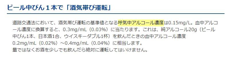 Asahi 飲酒が運転に及ぼす影響